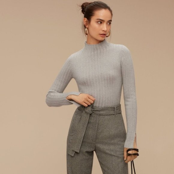 Aritzia Wilfred Bloy Ribbed Flare Turtleneck ⛄️